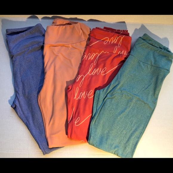 dfe5feacd586e7 LuLaRoe Pants | 4 Os Leggings Lot Free Sephora Bag | Poshmark